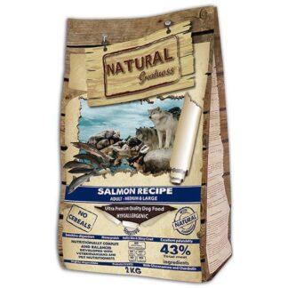 NATURAL GREATNESS salmon 2 ξηρη τροφη σκυλου 2 κιλα σολομος πετοπωλειον