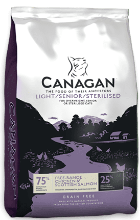canagan cat light and sterilised