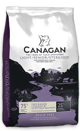 canagan cat light and sterilised