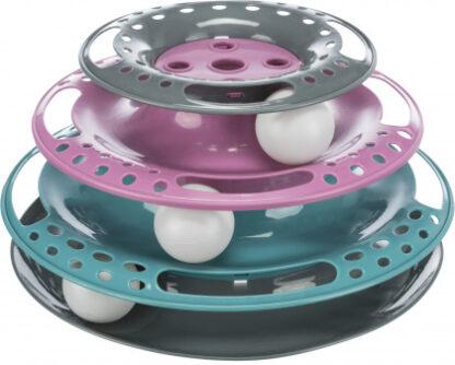 catch the balls trixie cat toy tower pirgos paixnidi gatas