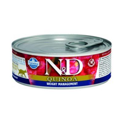 konserva gatas n&d quinoa weight management