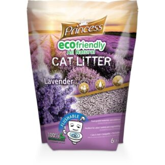 princess flushing cat litter levanda