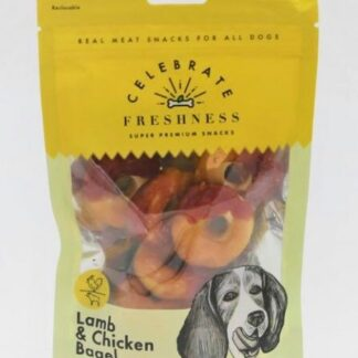 Lamb and Chicken Bagels celebrate freshness dog snack