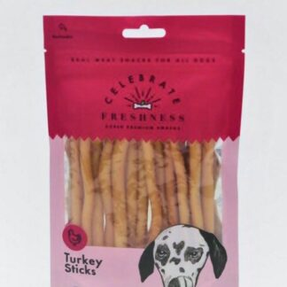 Turkey Sticks Celebrate freshness dog snack