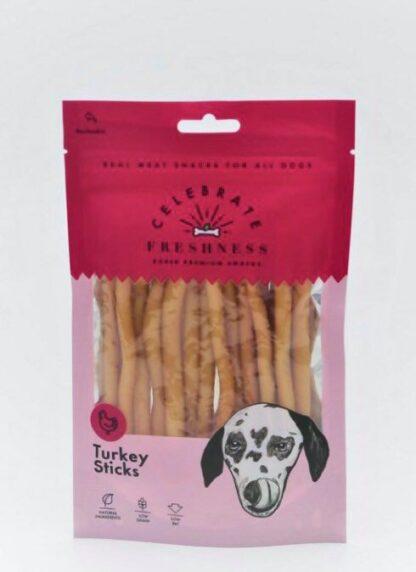 Turkey Sticks Celebrate freshness dog snack