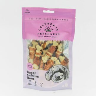 Bacon Calcium Bone celebrate freshness dog snack