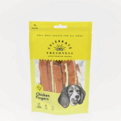 celebrate freshness chicken fingers dog snack