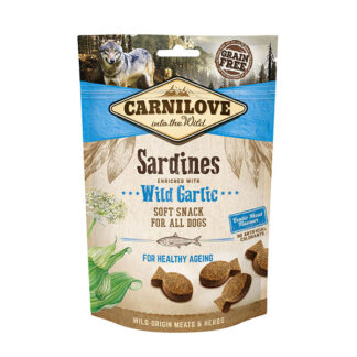 carnilove soft dog treats sardines wild garlic