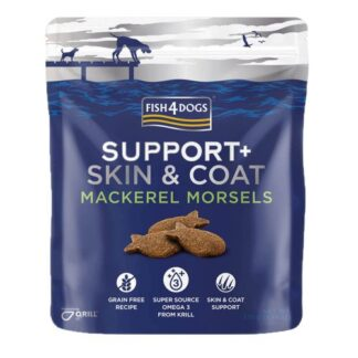 Fis4Dogs Treats - Skin & Coat - Mackerel Morsels (225g) dog snack petopoleion