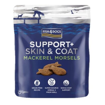 Fis4Dogs Treats - Skin & Coat - Mackerel Morsels (225g) dog snack petopoleion