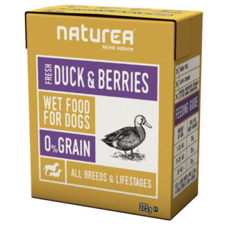 natures duck and berries wet dog food konserva skulou petopoleion