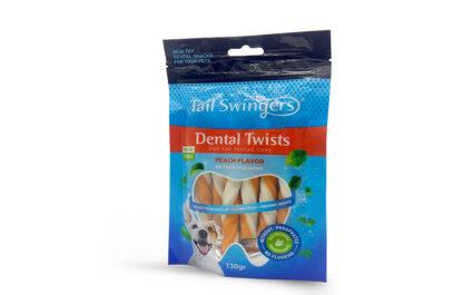 tail swingers dental twists peach snack gia dontia rodakino petopoleion