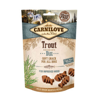 carnilove trout dill soft dog snack