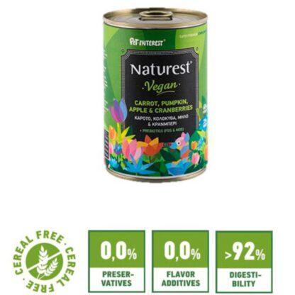 Naturest® Vegan Vegetables and Fruits 400gr froyta kai laxanika wet dog food konserva skylou