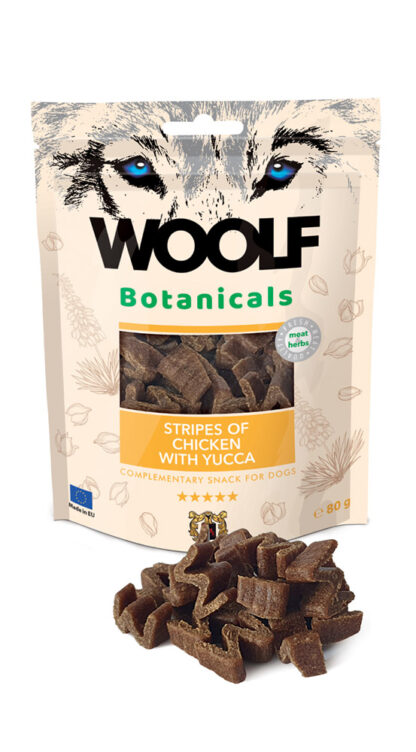 Woolf Snack Botanicals Κοτόπουλο με Yucca 80gr dog snack petopoleion