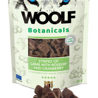Woolf Snack Botanicals Lamp & Rosehip 80gr dog snack petopoleion lixoudies skulou