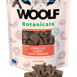 Woolf Snack Botanicals Γαλοπούλα με Ντομάτα 80gr dog snack lixoudia petopoleion