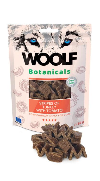 Woolf Snack Botanicals Γαλοπούλα με Ντομάτα 80gr dog snack lixoudia petopoleion